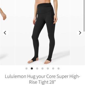 "Lululemon Hug Your Core Super High Rise 28"""